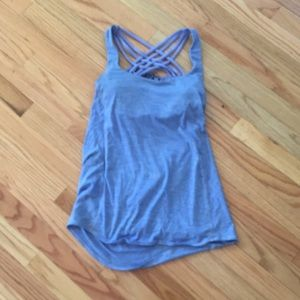 Lululemon slouchy back tank with built in bra